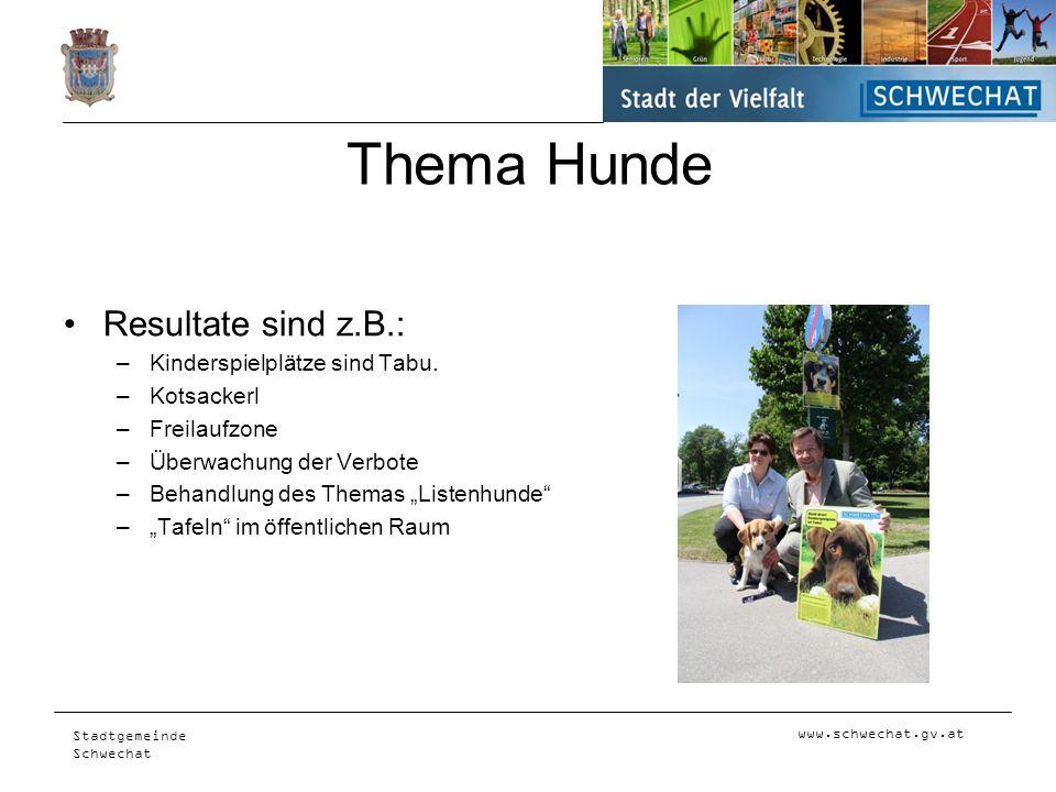 Thema Hunde Resultate sind z.B.: Kinderspielplätze sind Tabu.