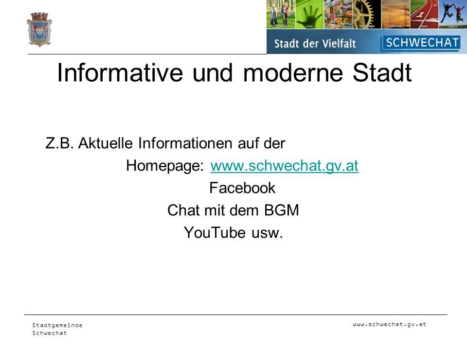 Informative und moderne Stadt