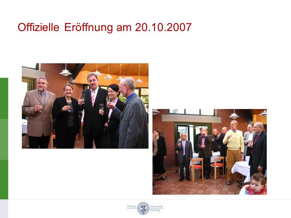 Offizielle Eröffnung am 20.10.2007