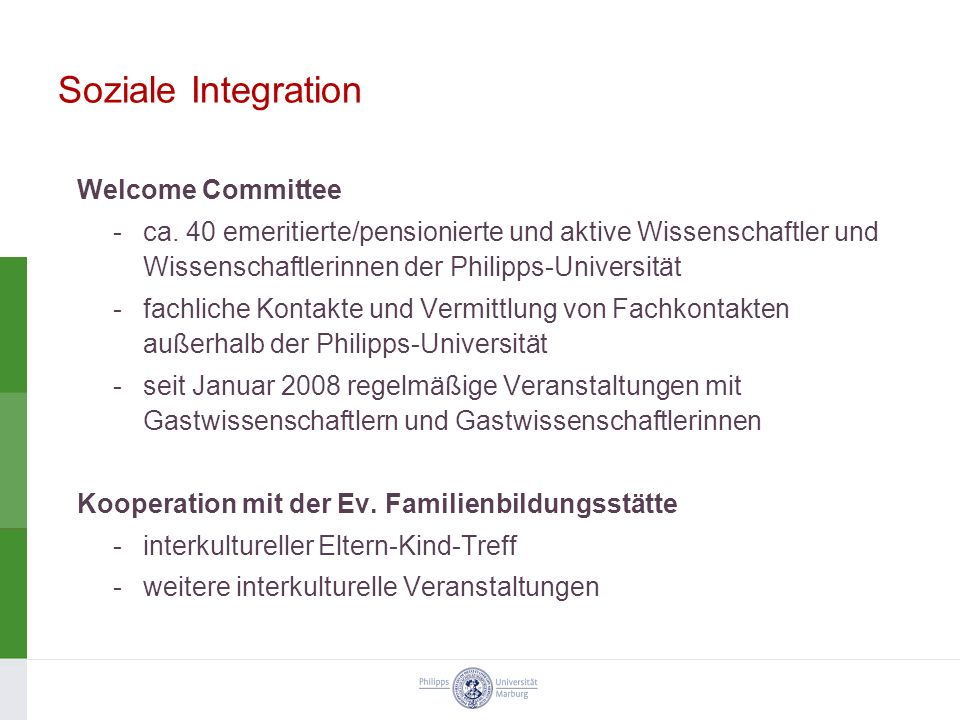 Soziale Integration Welcome Committee