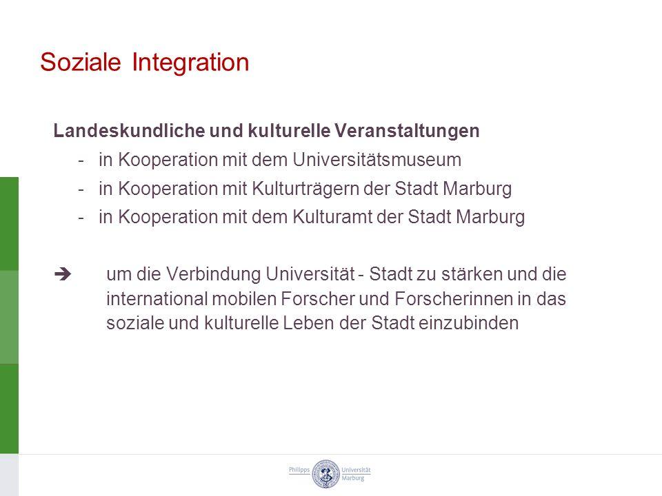 Soziale Integration Landeskundliche und kulturelle Veranstaltungen