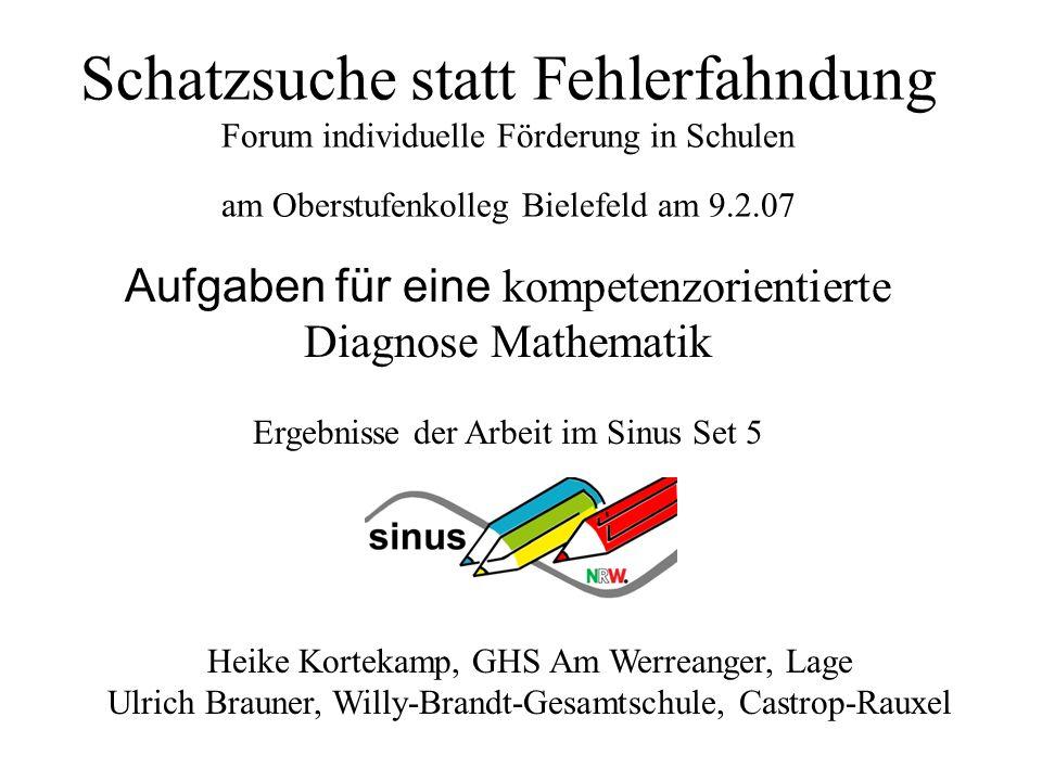 Schatzsuche statt Fehlerfahndung Forum individuelle Förderung in Schulen am Oberstufenkolleg Bielefeld am 9.2.07