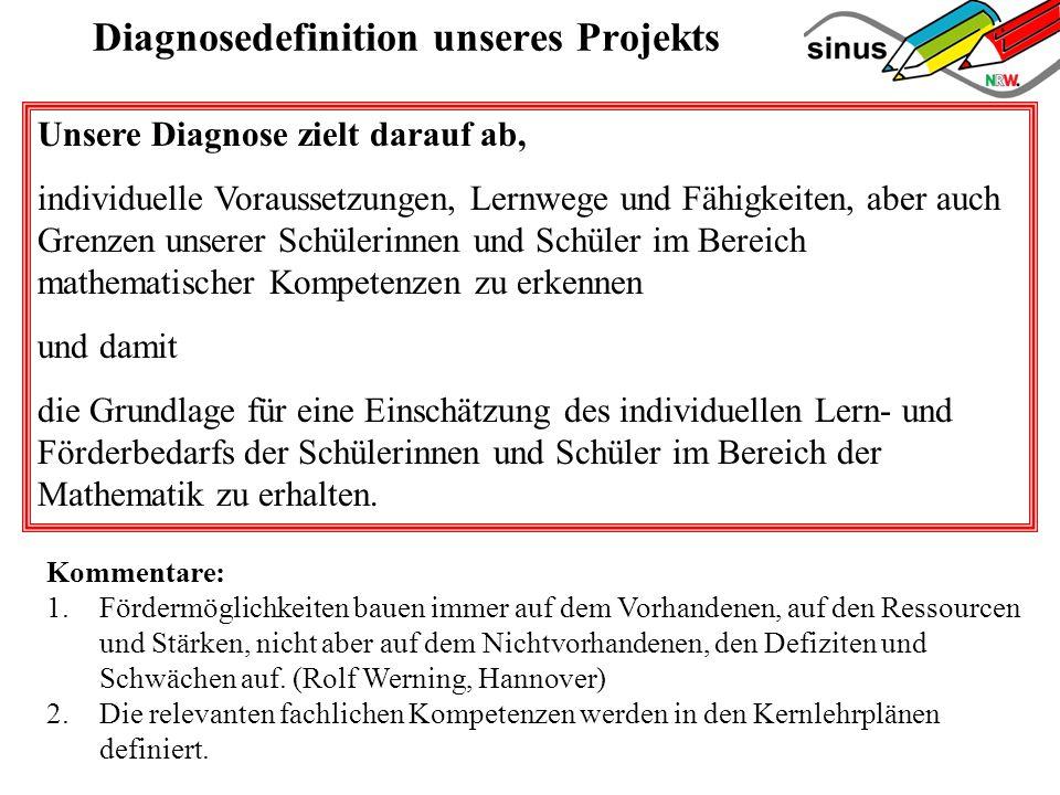 Diagnosedefinition unseres Projekts