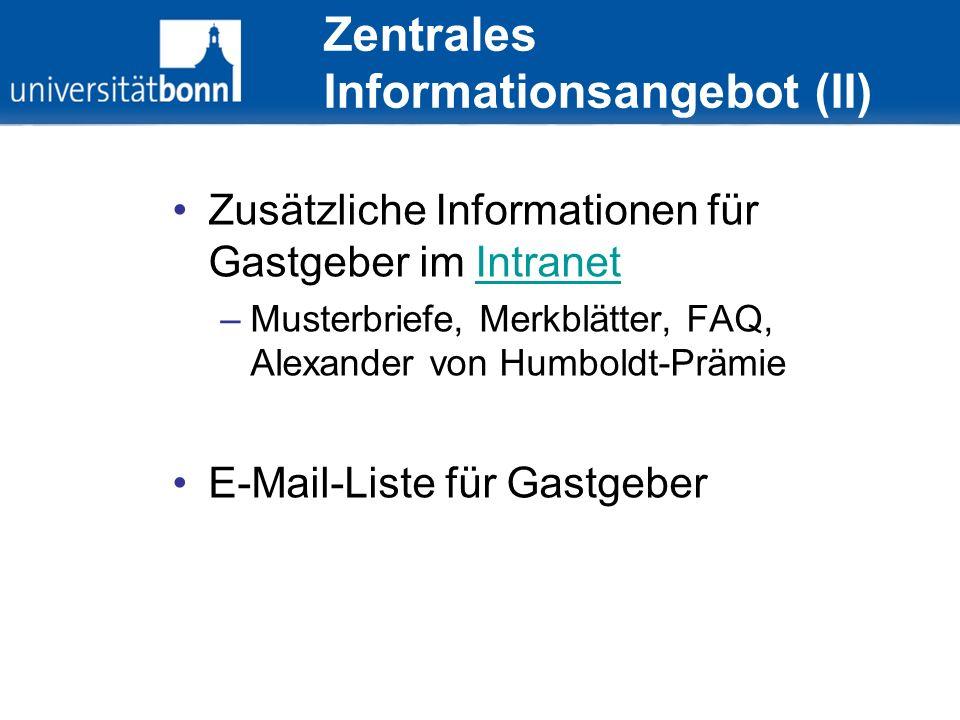 Zentrales Informationsangebot (II)