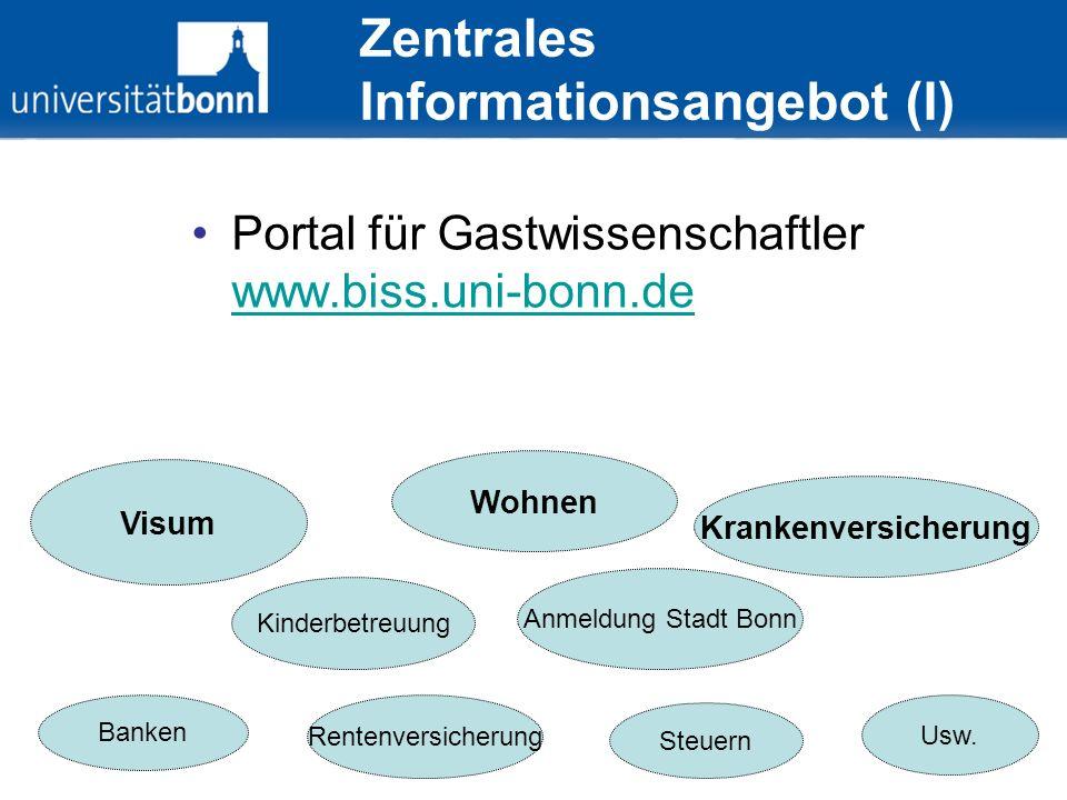 Zentrales Informationsangebot (I)