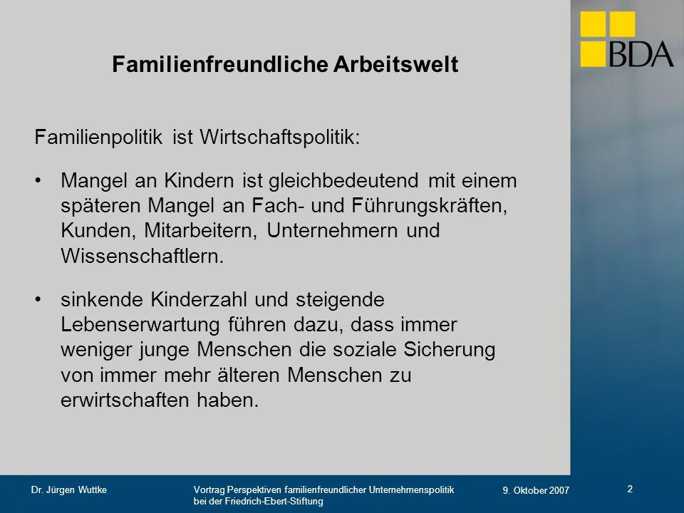Familienfreundliche Arbeitswelt