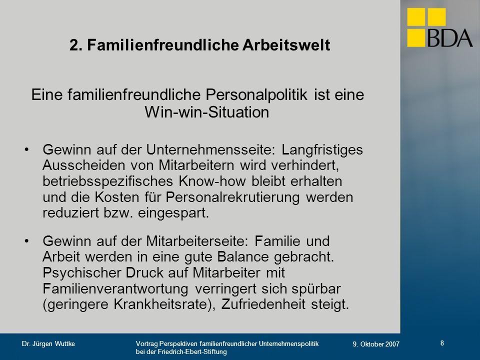 2. Familienfreundliche Arbeitswelt
