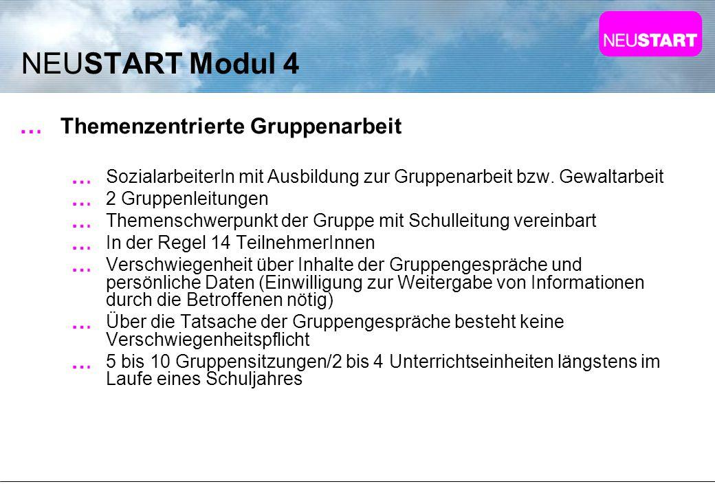 NEUSTART Modul 4 Themenzentrierte Gruppenarbeit