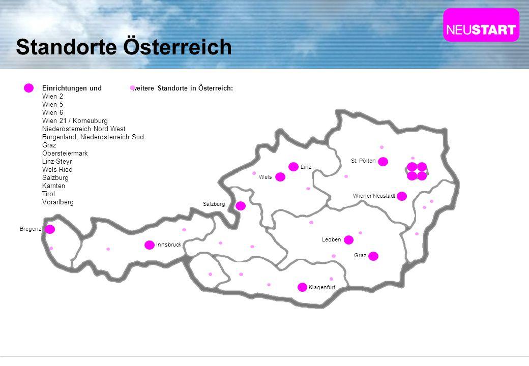 Standorte Österreich Einrichtungen und weitere Standorte in Österreich: Wien 2. Wien 5.
