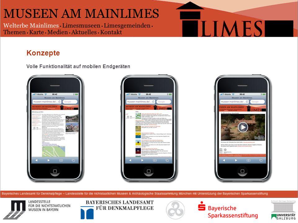 Start Konzepte Volle Funktionalität auf mobilen Endgeräten