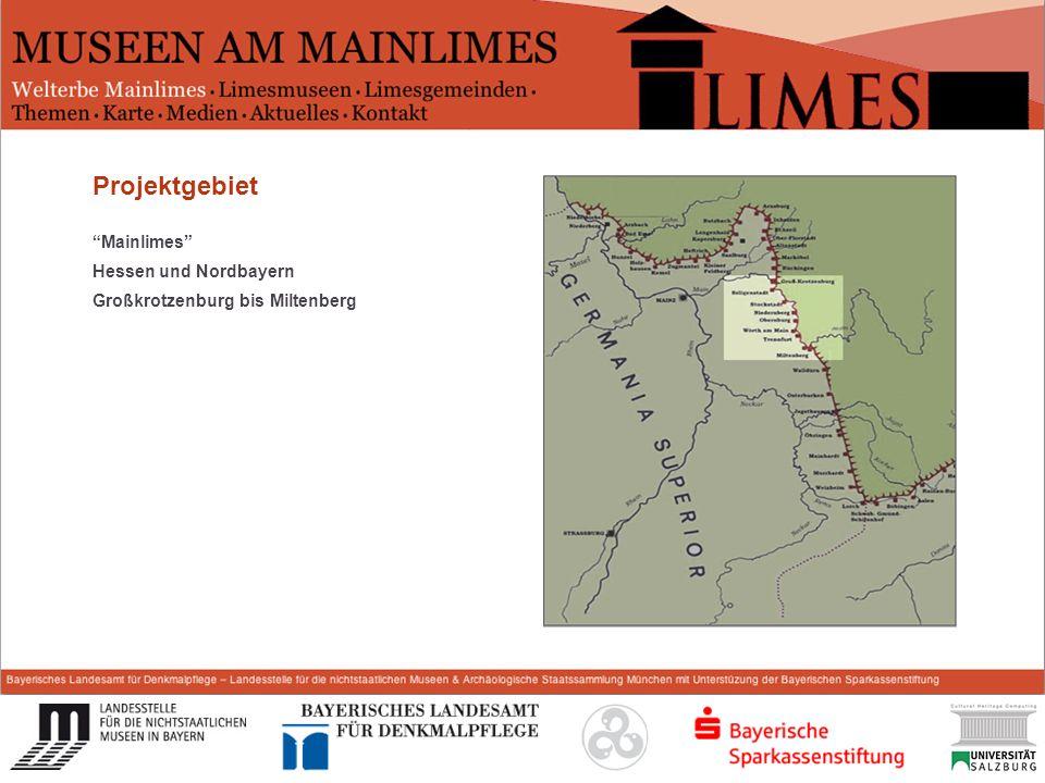 Start Projektgebiet Mainlimes Hessen und Nordbayern