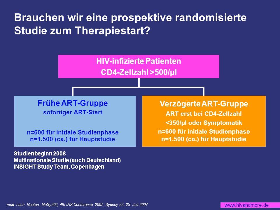 Brauchen wir eine prospektive randomisierte Studie zum Therapiestart