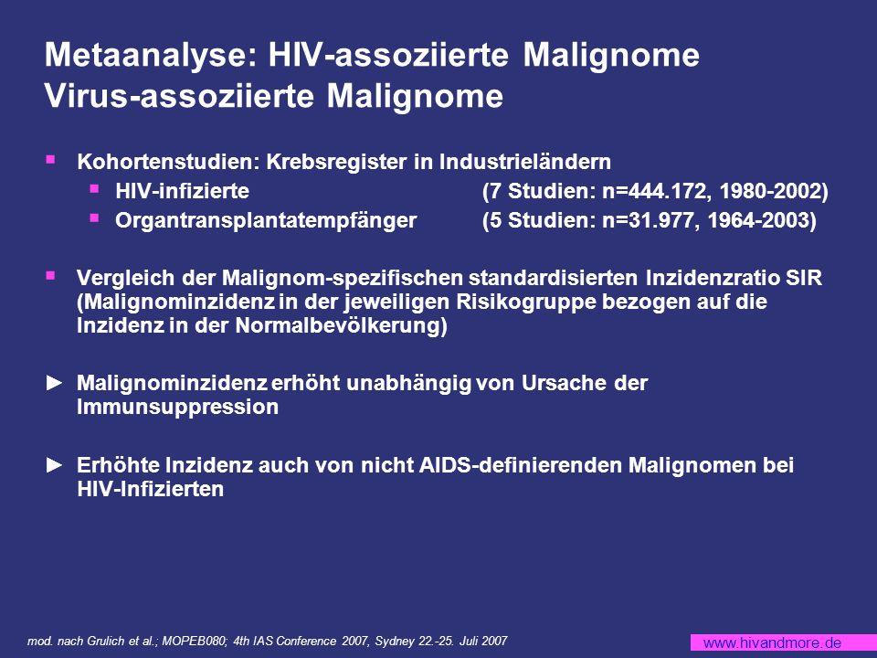Metaanalyse: HIV-assoziierte Malignome Virus-assoziierte Malignome