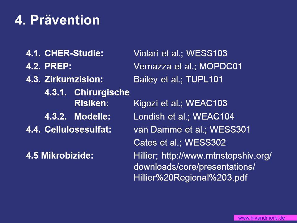 4. Prävention 4.1. CHER-Studie: Violari et al.; WESS103