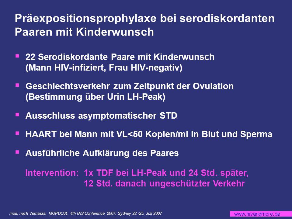 Präexpositionsprophylaxe bei serodiskordanten Paaren mit Kinderwunsch