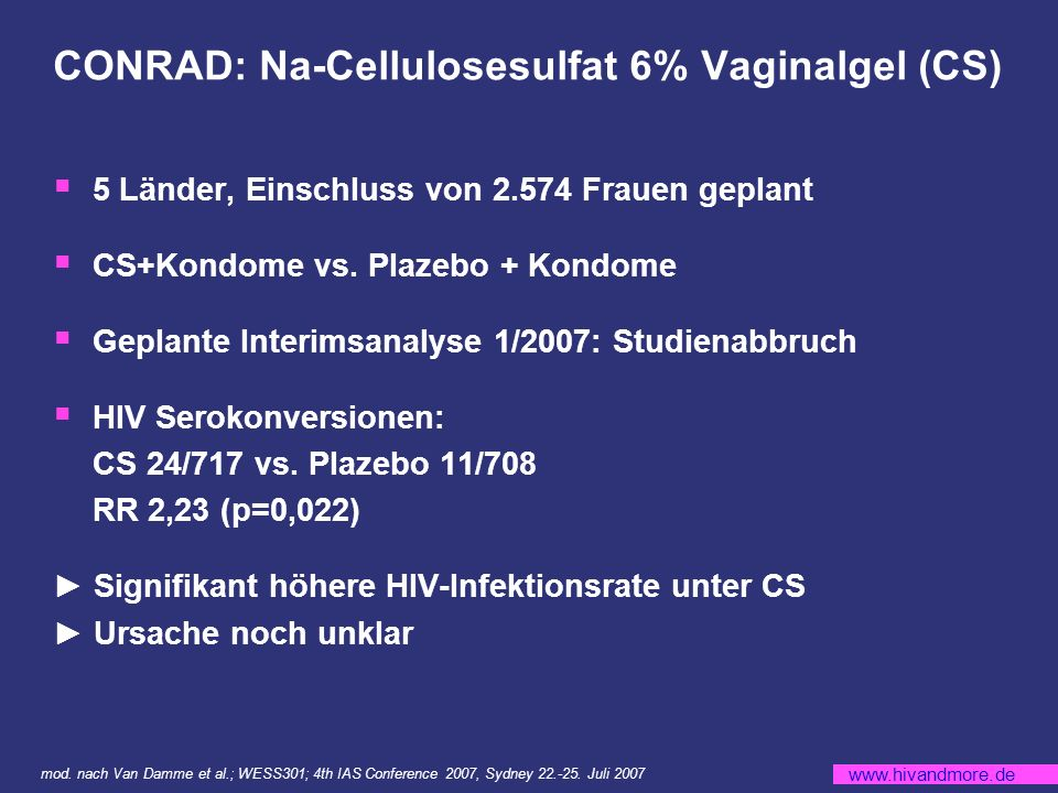 CONRAD: Na-Cellulosesulfat 6% Vaginalgel (CS)
