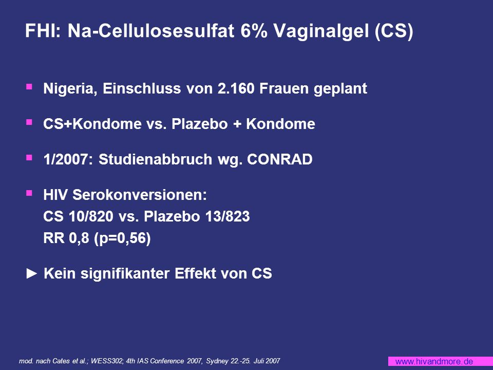 FHI: Na-Cellulosesulfat 6% Vaginalgel (CS)