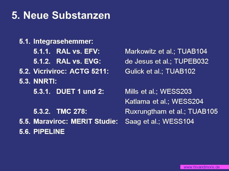 5. Neue Substanzen 5.1. Integrasehemmer: