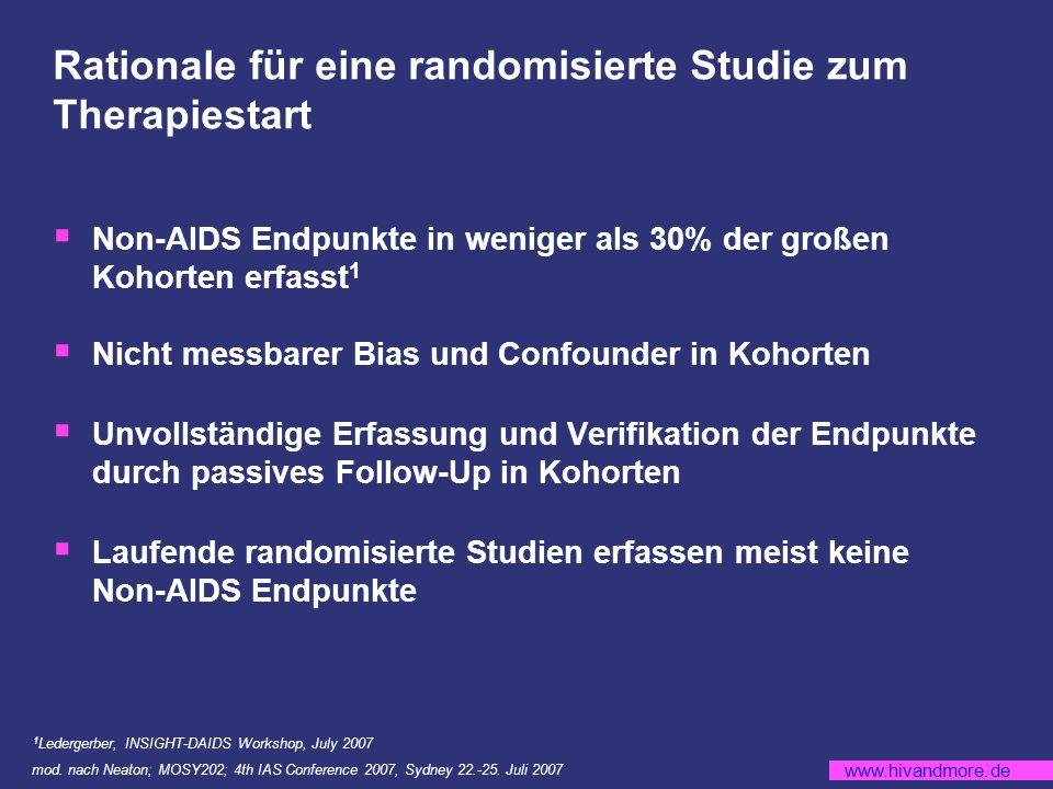 Rationale für eine randomisierte Studie zum Therapiestart