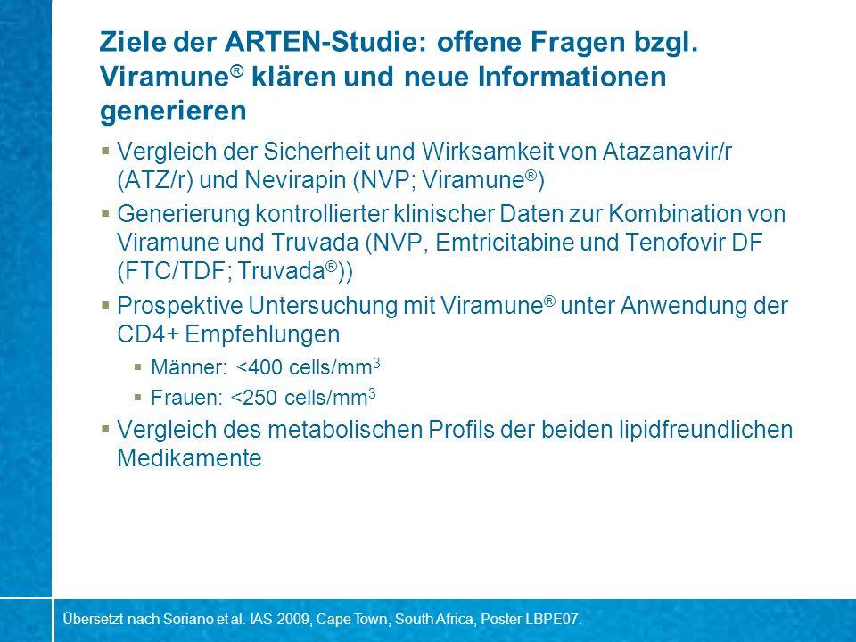 Ziele der ARTEN-Studie: offene Fragen bzgl