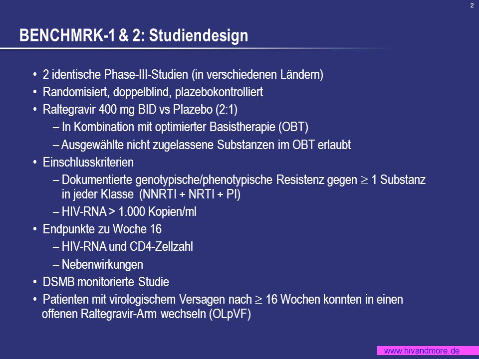 BENCHMRK-1 & 2: Studiendesign