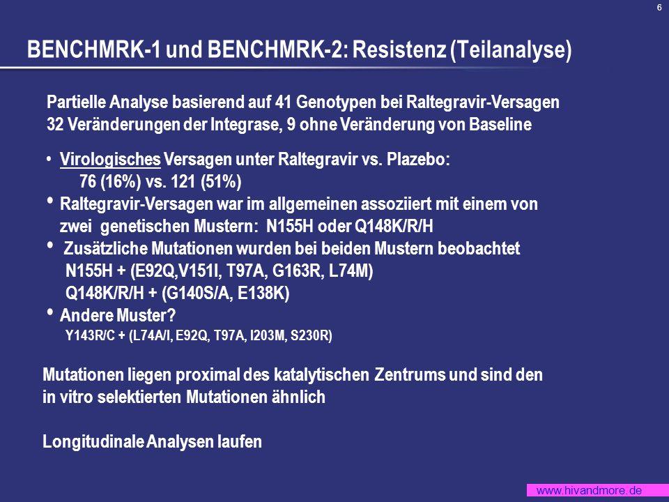 BENCHMRK-1 und BENCHMRK-2: Resistenz (Teilanalyse)