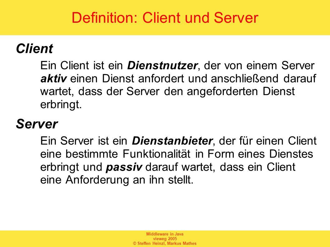 Definition: Client und Server
