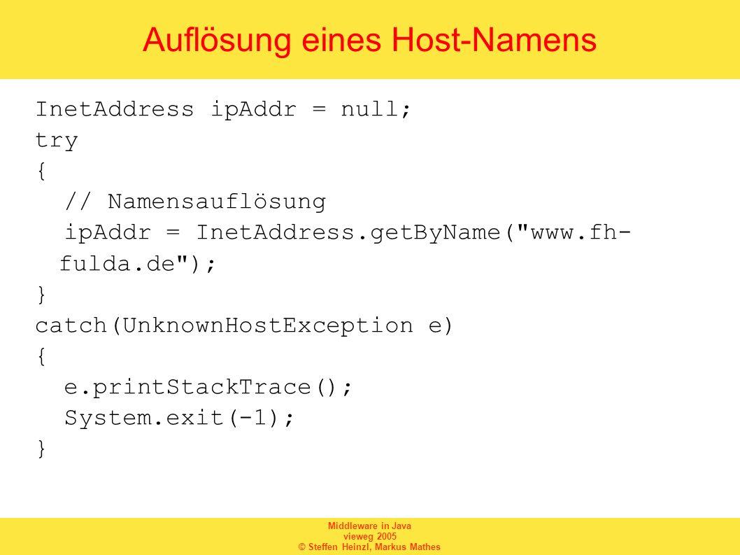 Auflösung eines Host-Namens