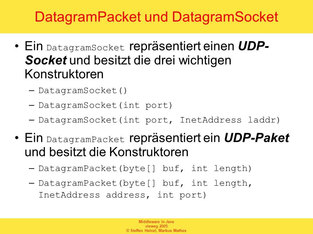 DatagramPacket und DatagramSocket