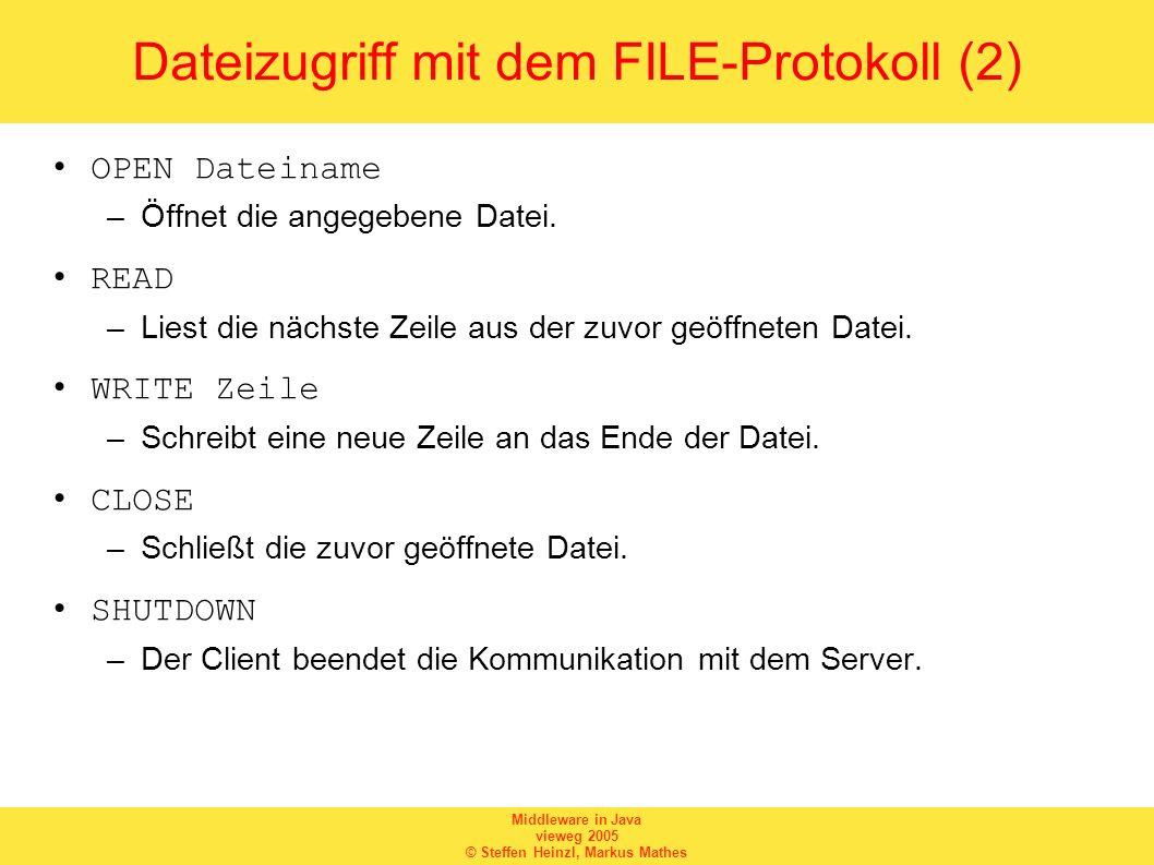 Dateizugriff mit dem FILE-Protokoll (2)