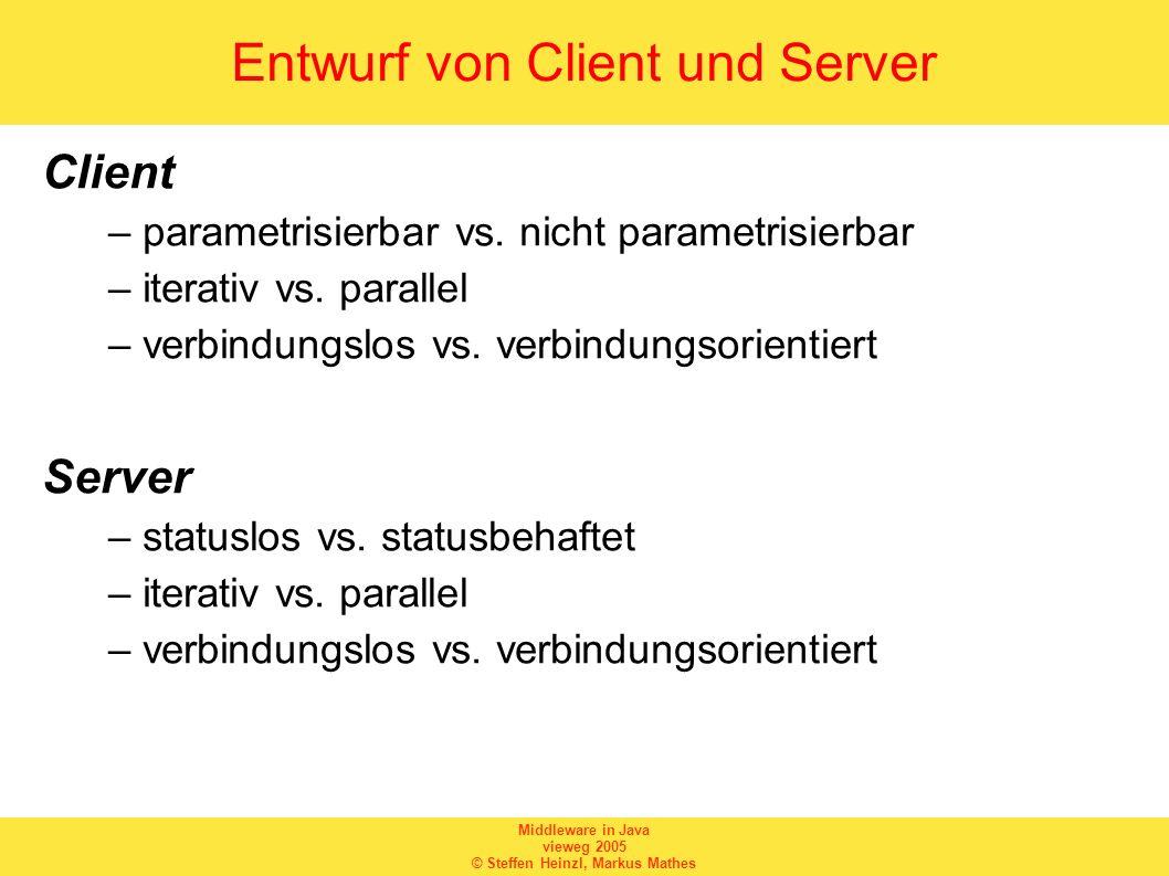 Entwurf von Client und Server
