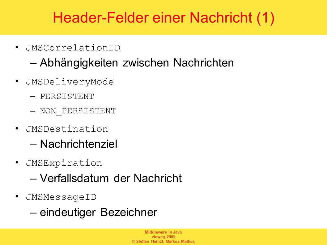 Header-Felder einer Nachricht (1)