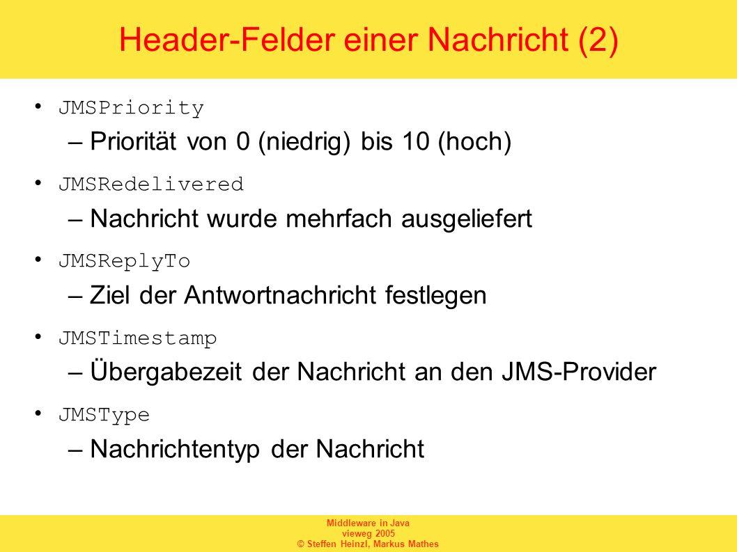 Header-Felder einer Nachricht (2)