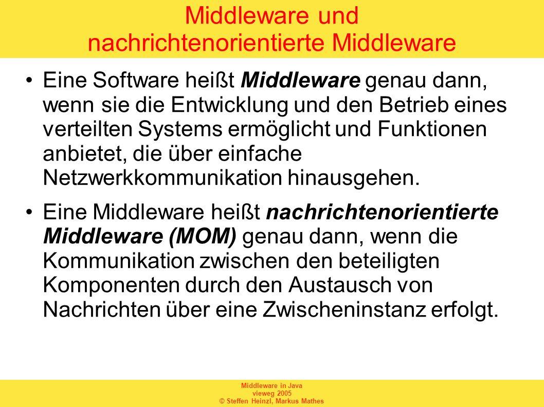 Middleware und nachrichtenorientierte Middleware