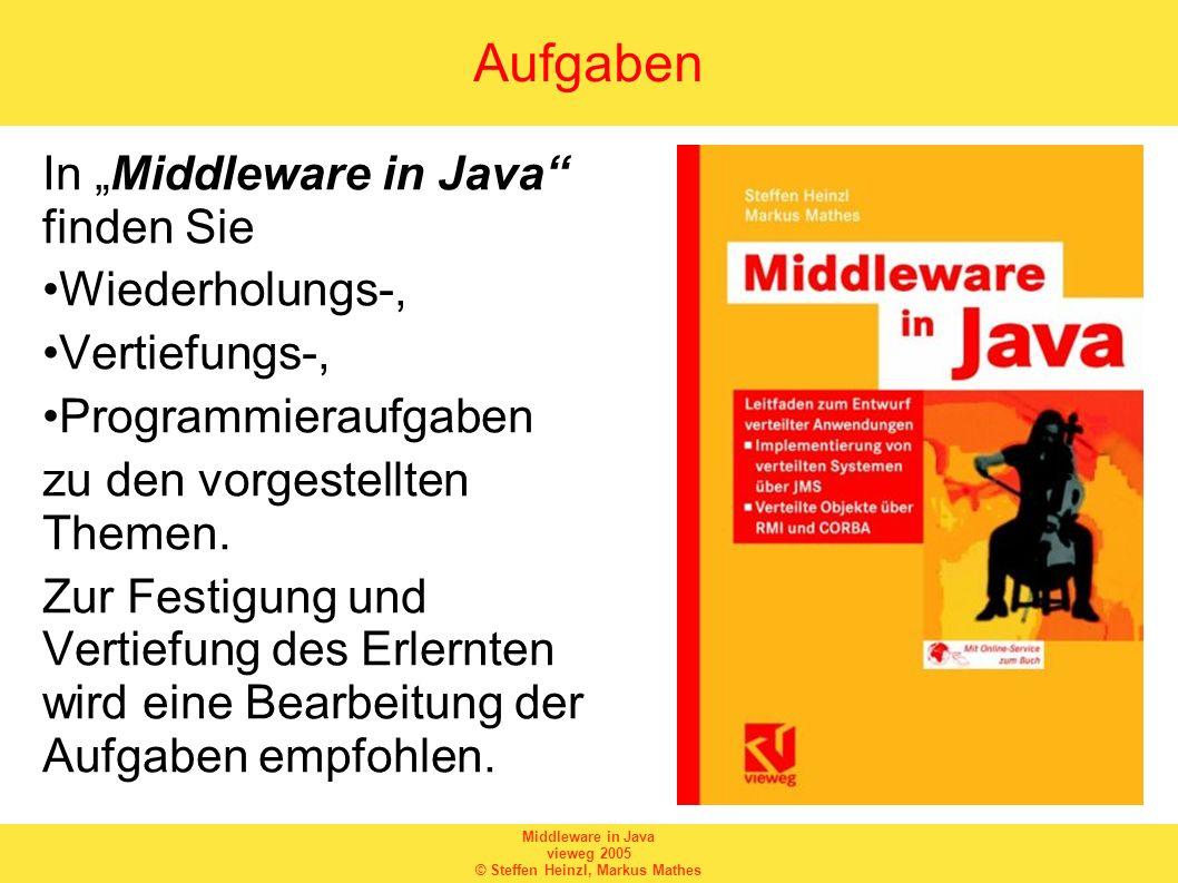 """Aufgaben In """"Middleware in Java finden Sie Wiederholungs-,"""