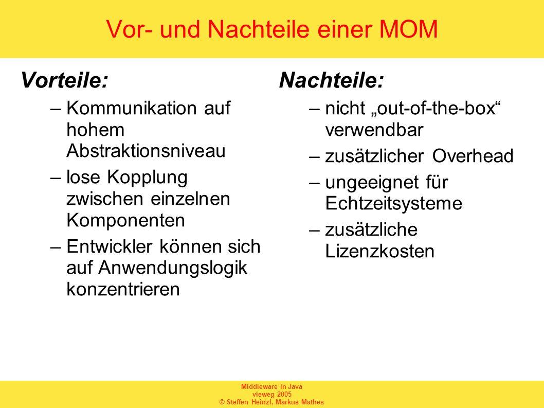 Vor- und Nachteile einer MOM