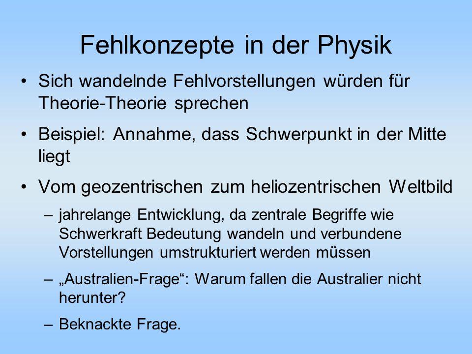 Fehlkonzepte in der Physik