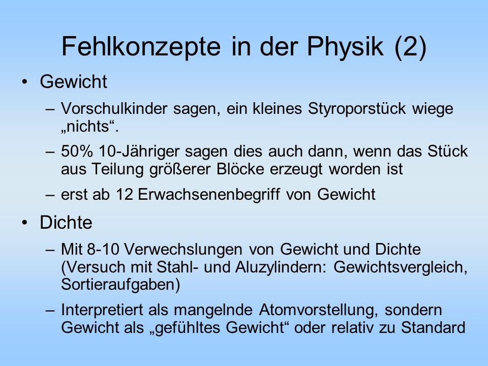 Fehlkonzepte in der Physik (2)