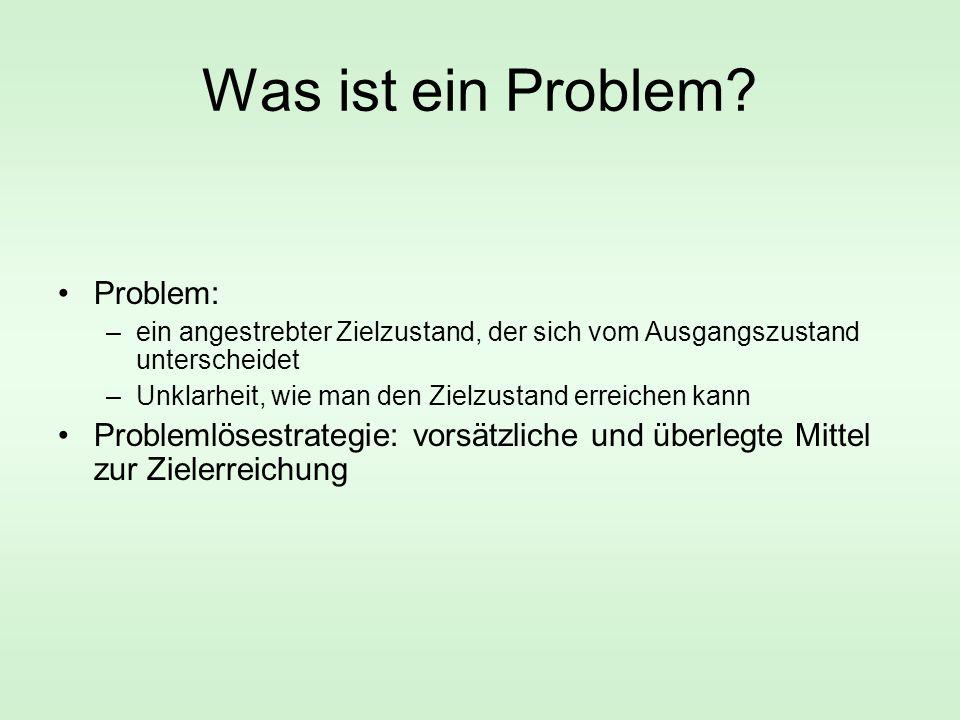 Was ist ein Problem Problem: