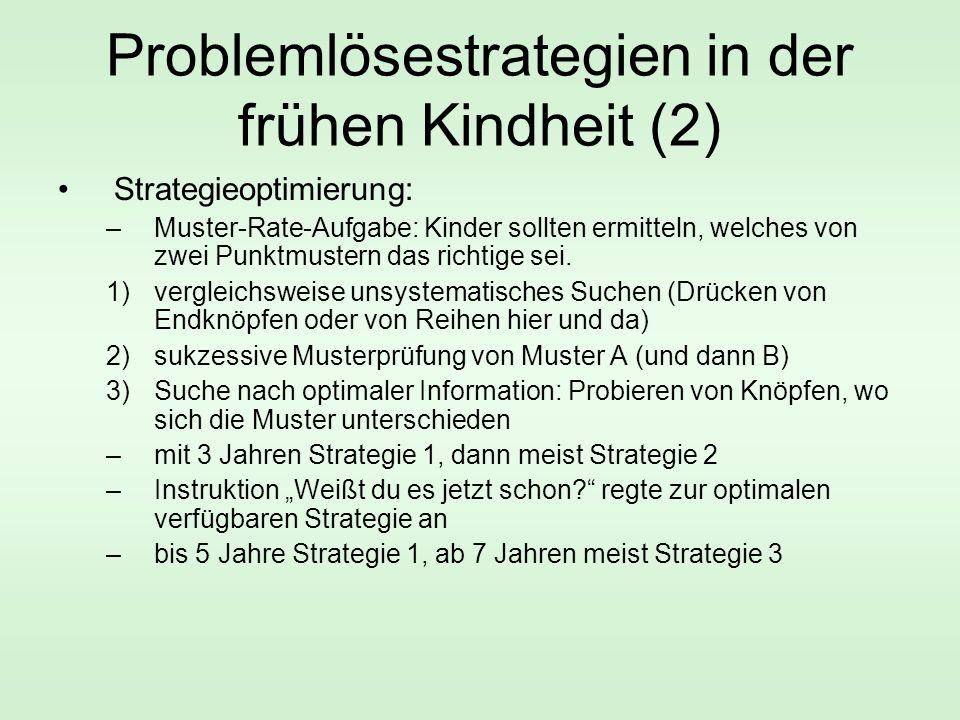 Problemlösestrategien in der frühen Kindheit (2)