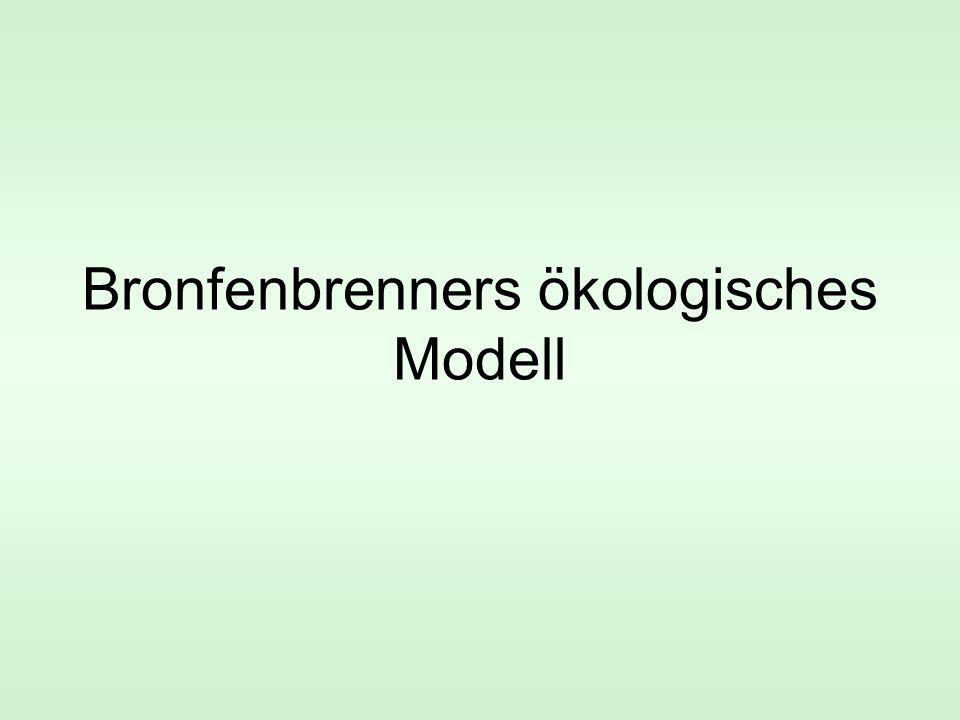 Bronfenbrenners ökologisches Modell