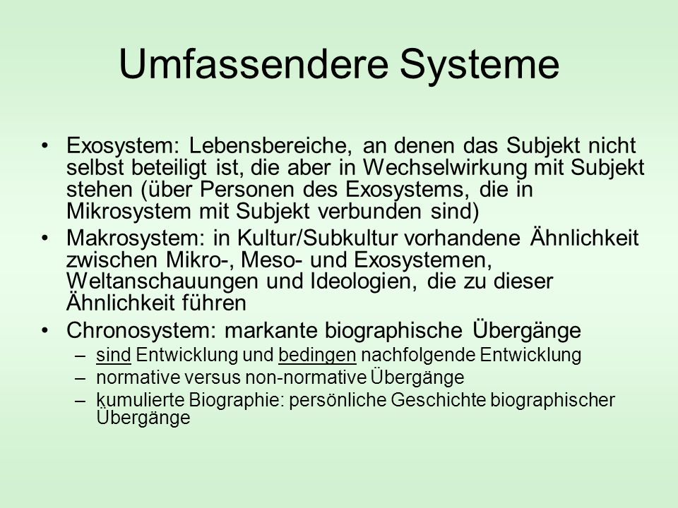 Umfassendere Systeme