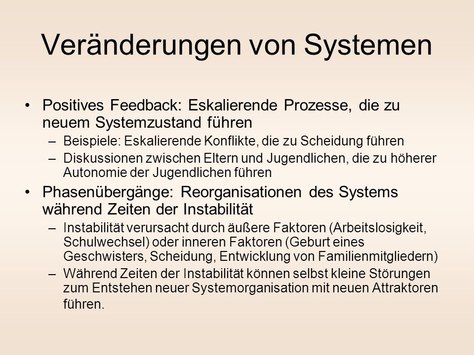 Veränderungen von Systemen
