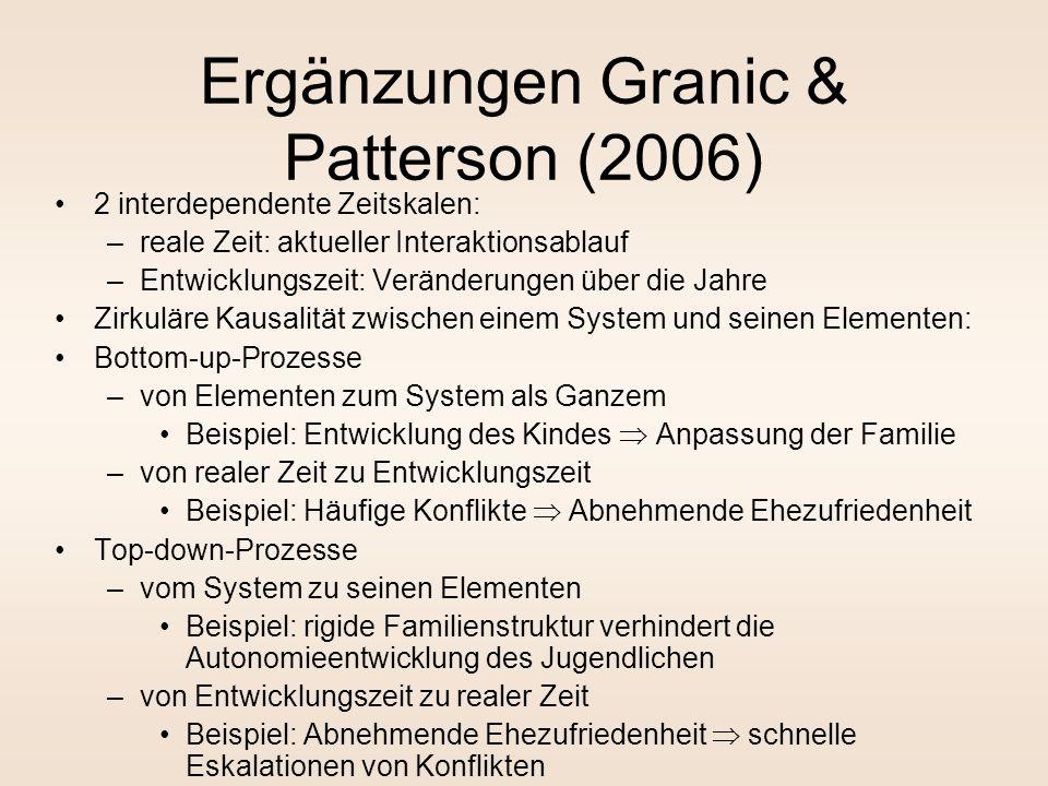 Ergänzungen Granic & Patterson (2006)