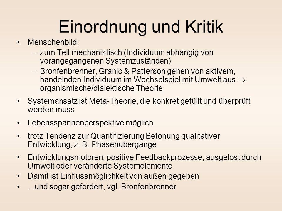 Einordnung und Kritik Menschenbild: