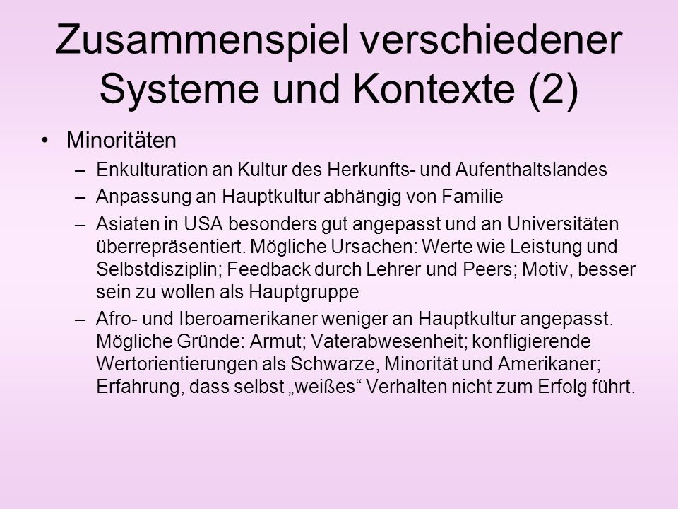 Zusammenspiel verschiedener Systeme und Kontexte (2)