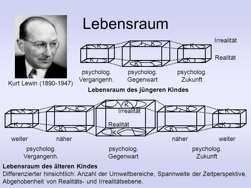 Lebensraum Kurt Lewin (1890-1947) psycholog. Vergangenh. Zukunft