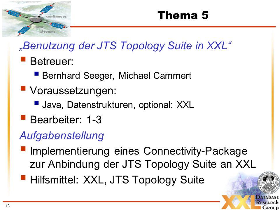 """""""Benutzung der JTS Topology Suite in XXL Betreuer: Voraussetzungen:"""