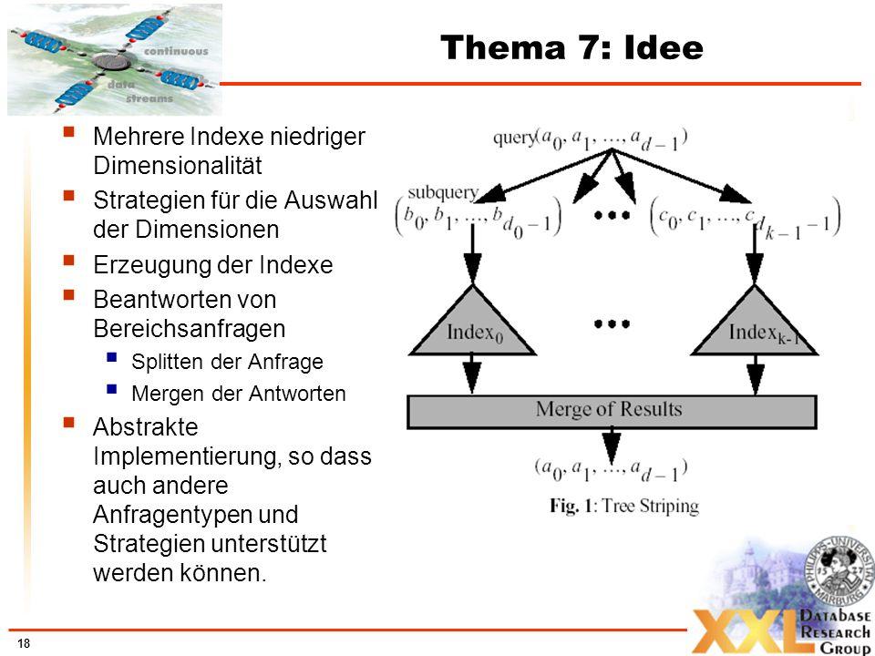 Thema 7: Idee Mehrere Indexe niedriger Dimensionalität