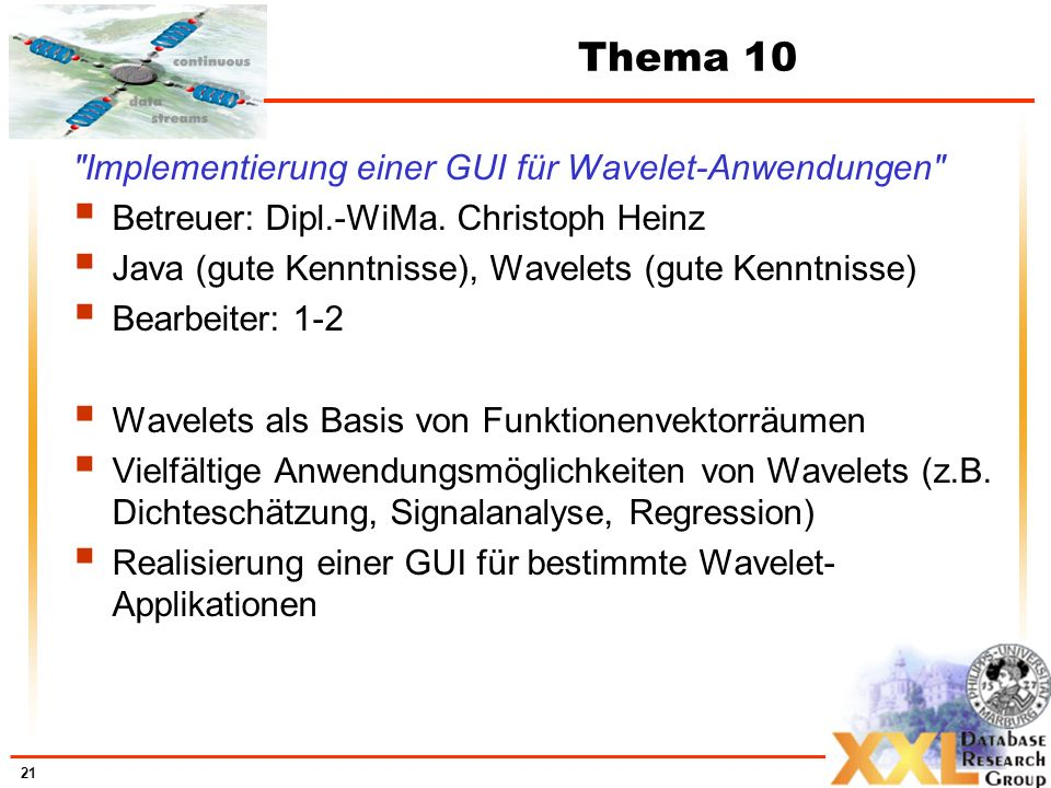 Thema 10 Implementierung einer GUI für Wavelet-Anwendungen
